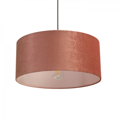 Suspension Walt en velours rose