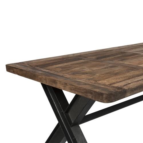 table emar rectangulaire 200 cm achetez les tables emar rectangulaires 200 cm design rdv d co. Black Bedroom Furniture Sets. Home Design Ideas