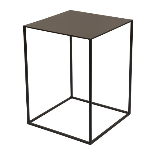 Table d'appoint Cola en métal noir 45 cm