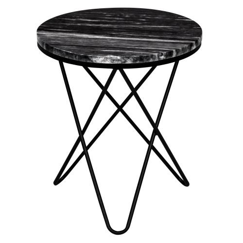 Table d\'appoint ronde Oda marbre noire : retrouvez les tables d ...