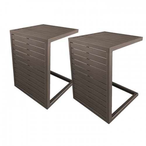 acheter table basse 2 positions cafe lot de 2