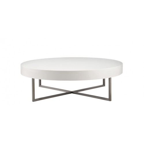 Table Basse Blanche Ronde.Table Basse Lounge