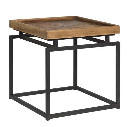 acheter table basse carree metal bois