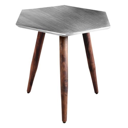 Table basse Priyanka chrome