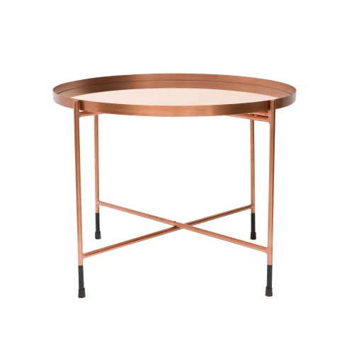 Table basse ronde Dusti cuivre
