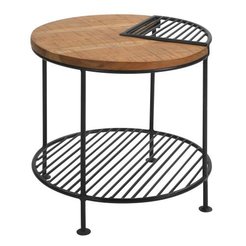 Table d'appoint Zèbre en bois et métal