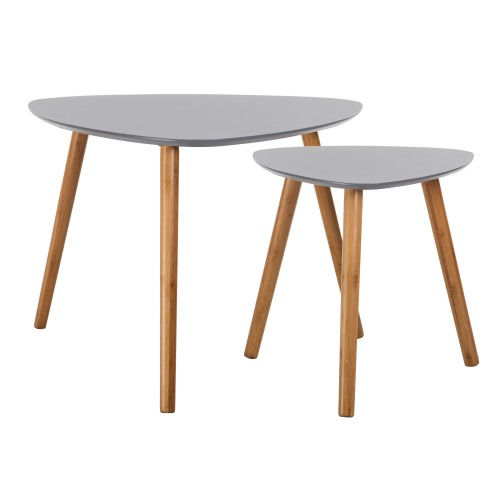 achat table basse grise lot de 2