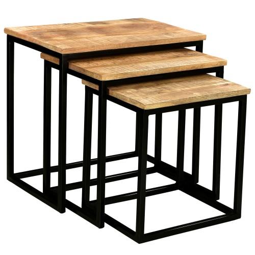 acheter table basse lot de 3 carre