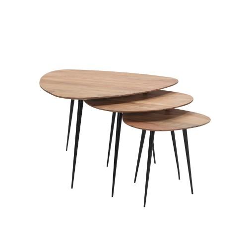 acheter table basse lot de 3 en bois