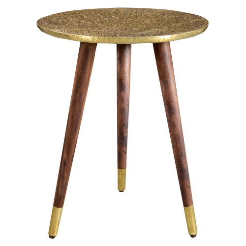 Table basse ronde Sahru laiton
