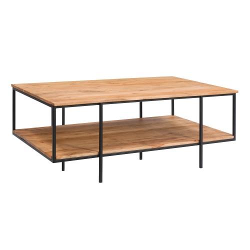 Table basse Pamela en bois et métal