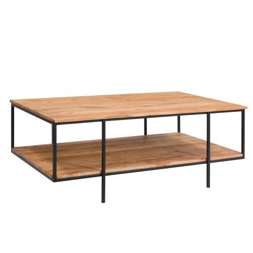 acheter table basse rectangulaire en bois et metal