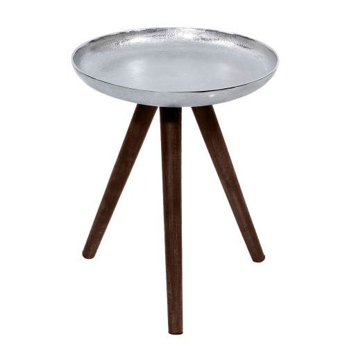 acheter table basse ronde chrome