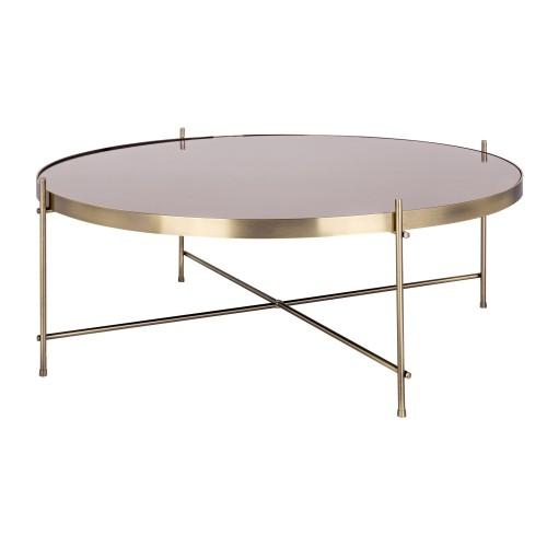 Table basse ronde Valdo or L