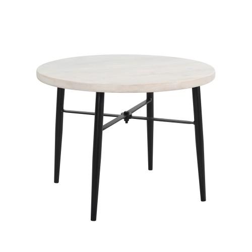 acheter table basse ronde en bois et metal