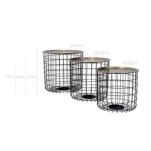 table basse ronde gigogne pinjara lot de 3 commandez. Black Bedroom Furniture Sets. Home Design Ideas