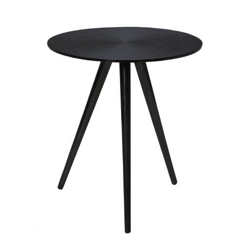 Table basse ronde Rivak noire