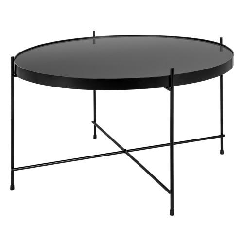 acheter table basse ronde noire
