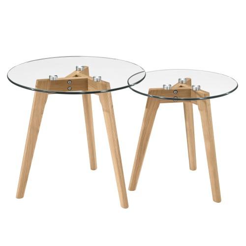 Table basse ronde Bilto (lot de 2)