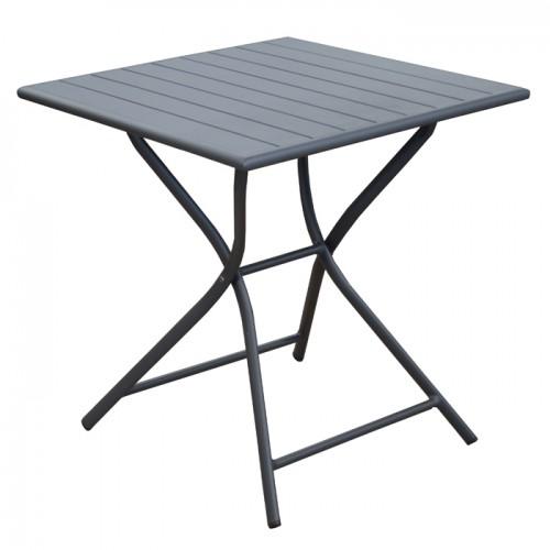 acheter table carree grise pliante
