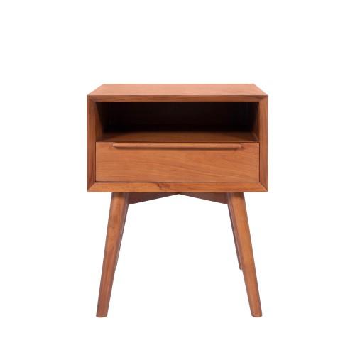 acheter table de chevet en bois fonce
