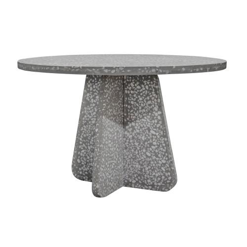 Table ronde Pierro en terrazzo ∅ 120 cm