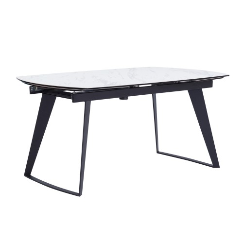 Table extensible rectangulaire Donna blanche 160/230cm