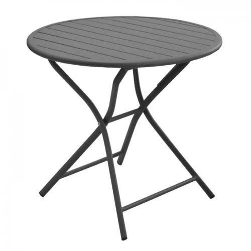 Table de jardin Globe pliante grise 80 cm