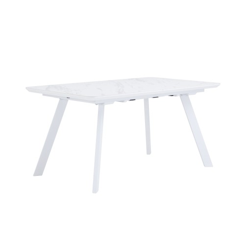 acheter table extensible blanche metal marbre
