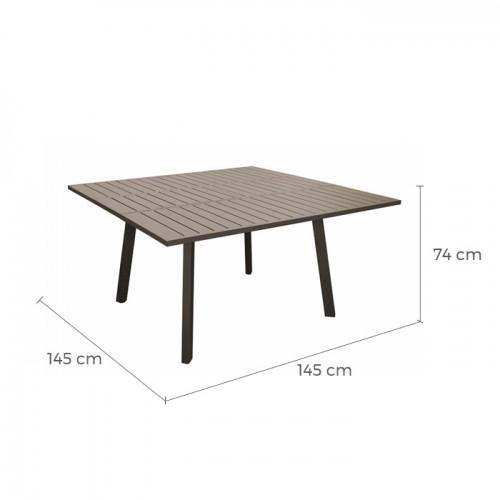 Table de jardin Barcelona extensible café 100/145cm