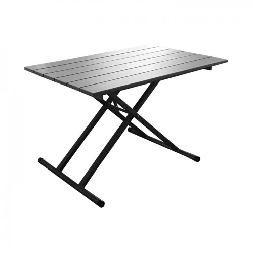 Table de jardin grise Pump relevable 120 cm