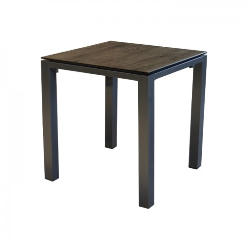 Table de jardin Stonéo marron 90 cm