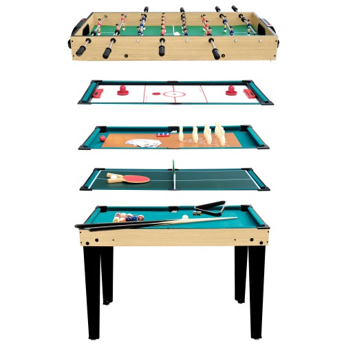 Table multi-jeux Kery 10 en 1