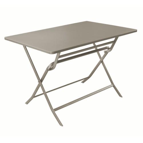 Table de jardin rectangulaire Mérida gris argent 110 cm