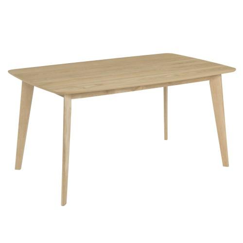 Table rectangulaire Oman 150 cm en bois clair