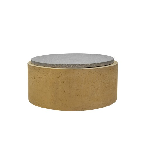 acheter table ronde d appoint en beton et terrazzo