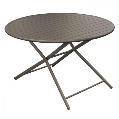 Table de jardin Globe pliante café 120 cm