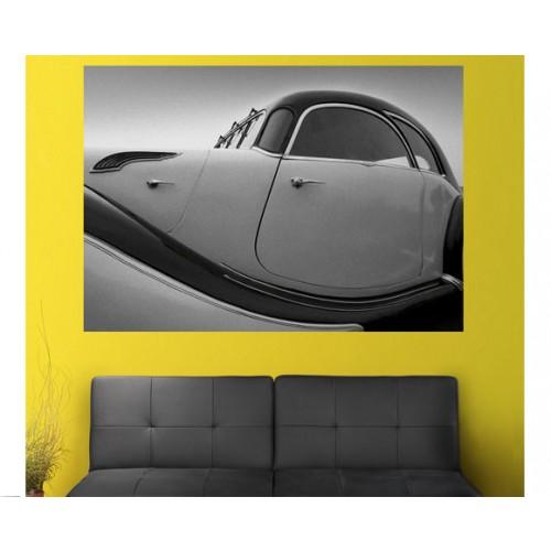 acheter tableau 200x140 cm voiture noir et blanc pas cher