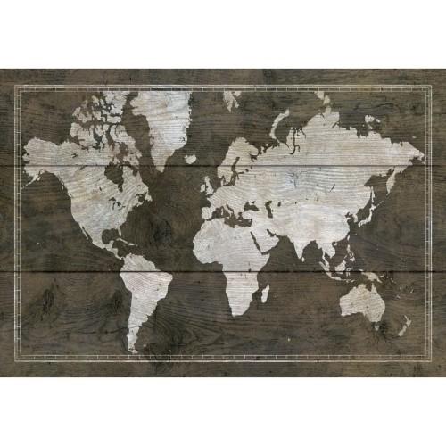 acheter tableau en verre carte monde