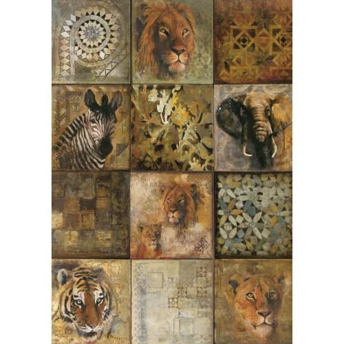 acheter tableau en verre safari