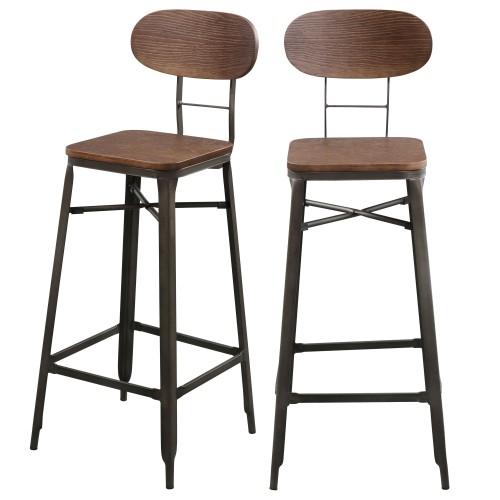 acheter tabouret de bar bois métal design