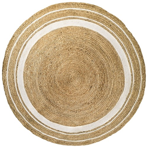 acheter tapis 120 cm blanc naturel