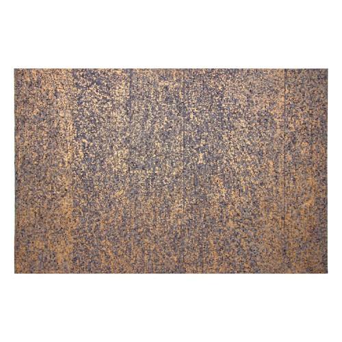 Tapis Thane en cuir bleu et doré 160x230 cm