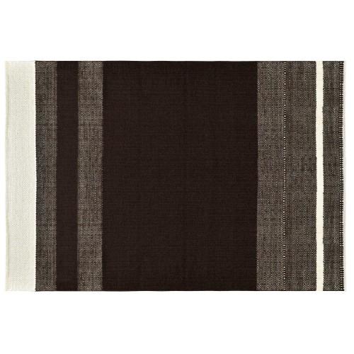 Tapis Lilo en laine et coton marron 200x300 cm