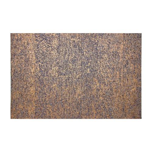 Tapis Thane en cuir bleu et doré 140x200 cm