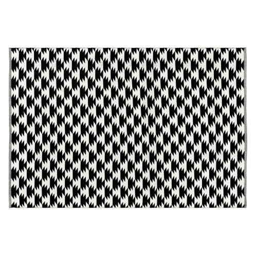 Tapis noir Dino en coton 160x230 cm