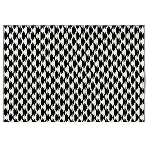 Tapis noir Dino en coton 200x300 cm