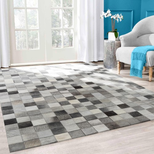 acheter tapis rectangulaire cuir
