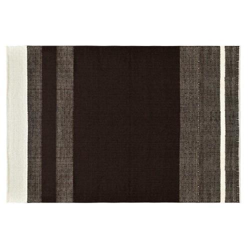 Tapis Lilo en laine et coton marron 160x230 cm