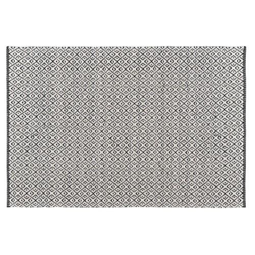 Tapis Malika noir en laine et coton 160x230 cm